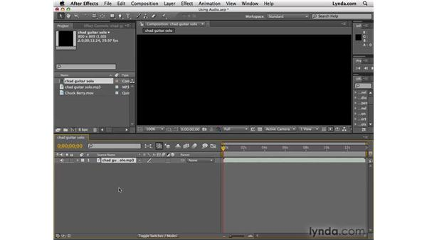 Using audio in After Effects: After Effects CS4 Essential Training