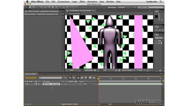 Creating audio markers: After Effects CS4 Essential Training