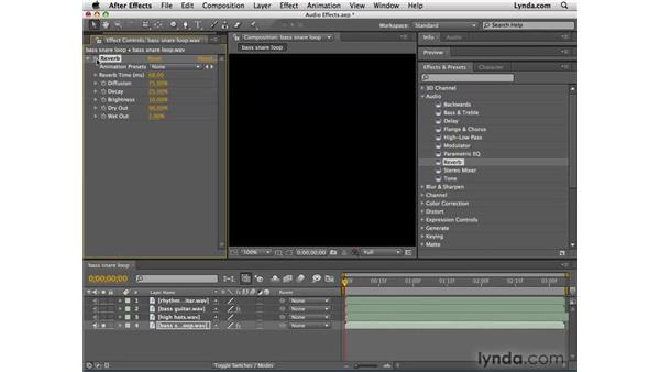 Enhancing audio tracks with effects: After Effects CS4 Essential Training