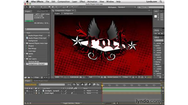 Setting up the project: After Effects CS4 Essential Training