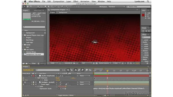 Linking to keyframes with expressions: After Effects CS4 Essential Training
