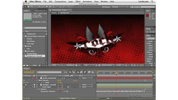 Modifying the expressions: After Effects CS4 Essential Training