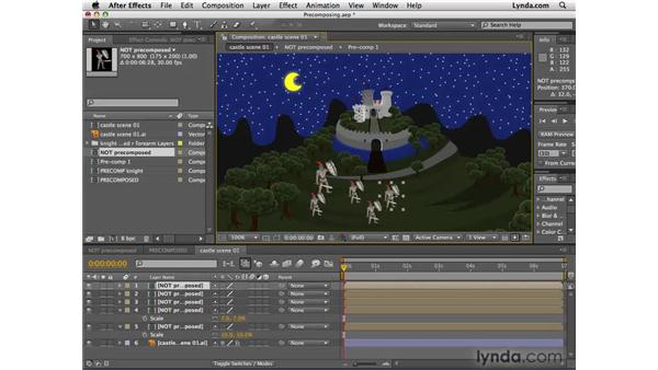 Creating compositions from existing layers: After Effects CS4 Essential Training