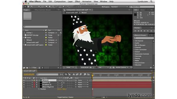 Using After Effects and Illustrator: After Effects CS4 Essential Training