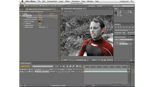 Adjusting color: After Effects CS4 Essential Training