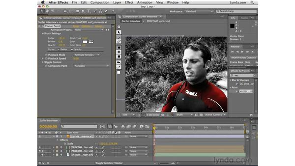 Adding motion graphics: After Effects CS4 Essential Training