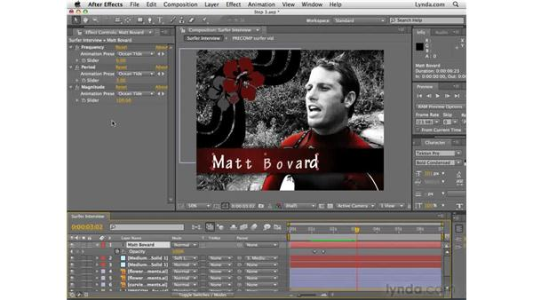 Adjusting text animation presets: After Effects CS4 Essential Training