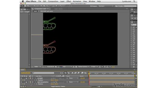 Understanding spatial interpolation: After Effects CS4 Essential Training