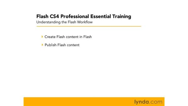 Getting to know the Flash workflow: Flash CS4 Professional Essential Training