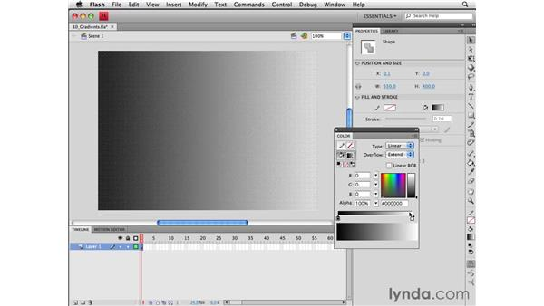 Creating gradients: Flash CS4 Professional Essential Training