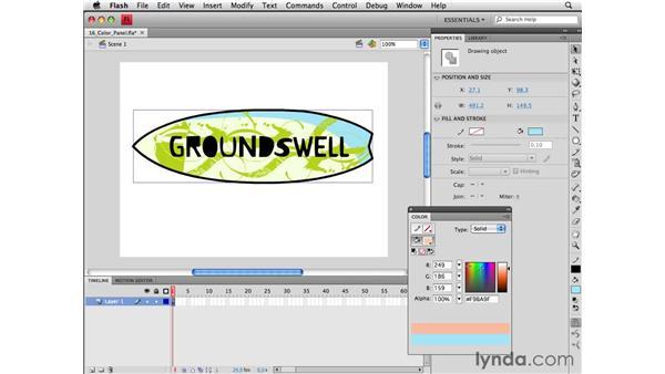 Using the Color panel: Flash CS4 Professional Essential Training