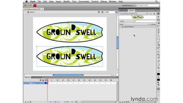 Editing symbols: Flash CS4 Professional Essential Training