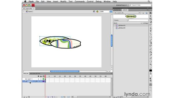 Working with layers: Flash CS4 Professional Essential Training