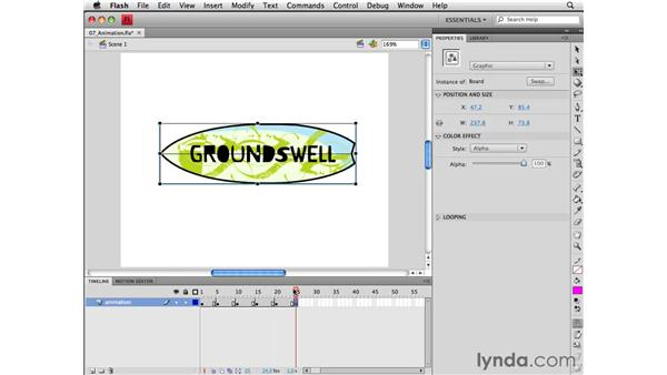Creating a frame-by-frame animation: Flash CS4 Professional Essential Training