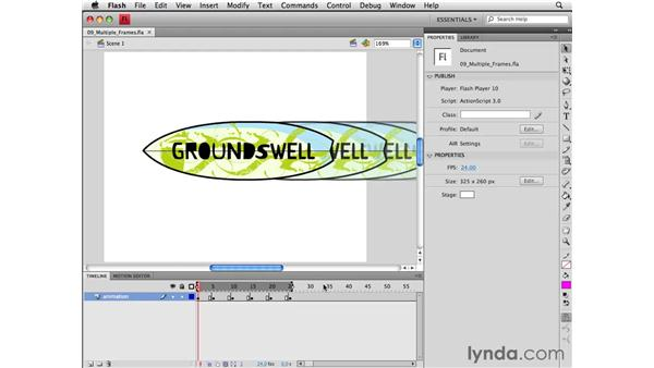 Editing multiple frames: Flash CS4 Professional Essential Training