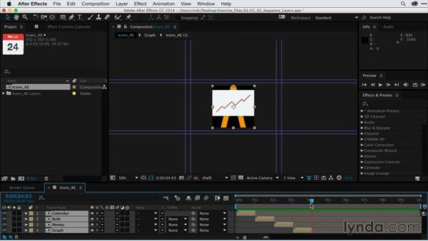 Building the sequence of layers: After Effects Guru: Keyframe Assistants