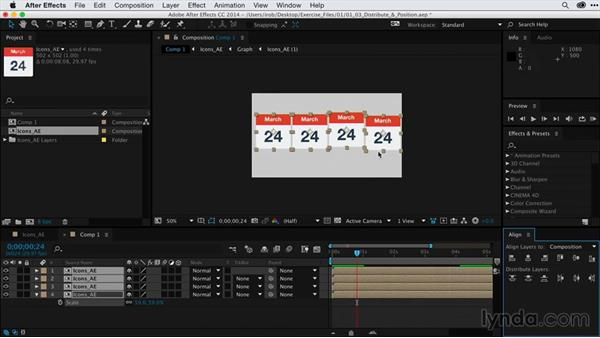 Distributing and positioning a sequence of images: After Effects Guru: Keyframe Assistants