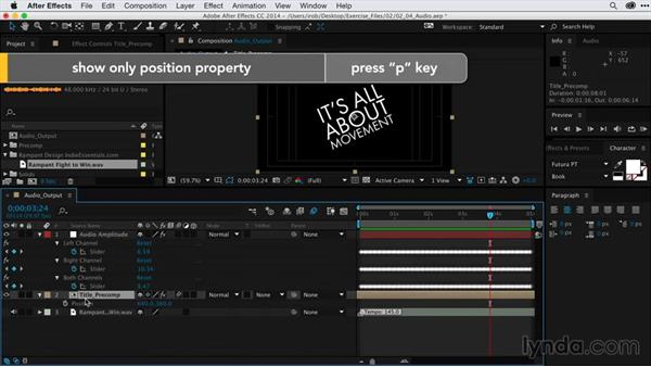 Adding intensity to animation with audio-driven keyframes: After Effects Guru: Keyframe Assistants