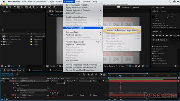 Converting animation between expressions and keyframes: After Effects Guru: Keyframe Assistants