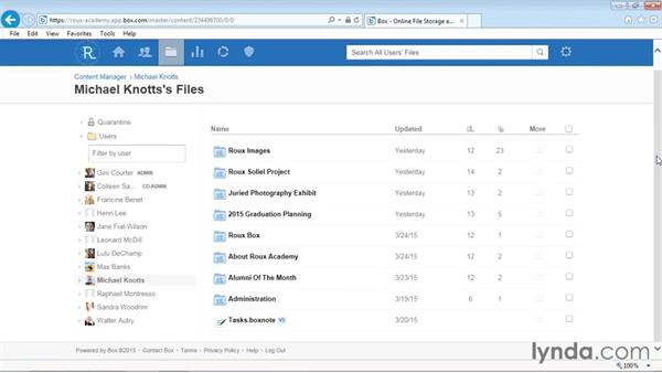 Using the Content Manager (enterprise only): Up and Running with Box Administration
