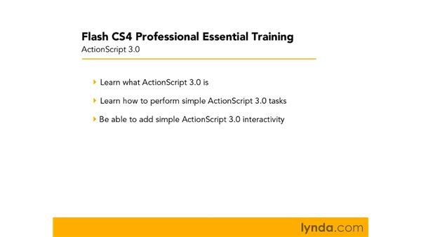What to expect from this chapter: Flash CS4 Professional Essential Training