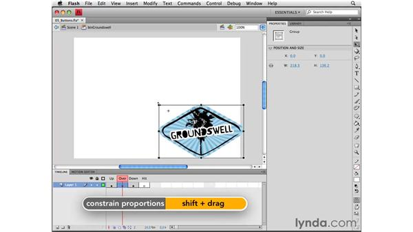Creating button symbols: Flash CS4 Professional Essential Training