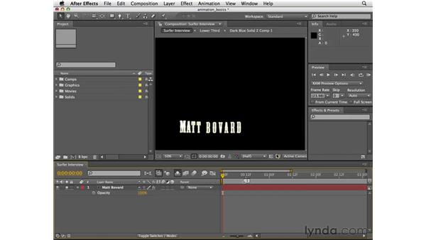 Generating an XFL file from After Effects: Flash CS4 Professional Essential Training