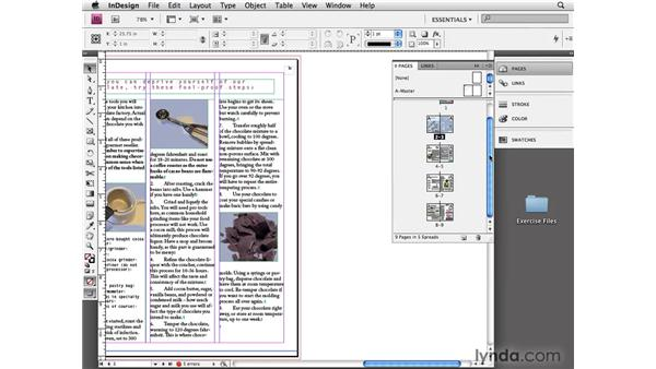 Navigating pages: InDesign CS4 Essential Training