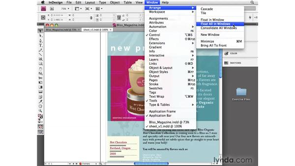 Managing multiple windows: InDesign CS4 Essential Training