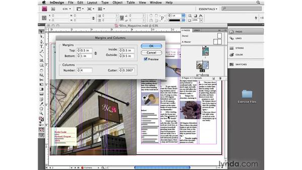 Making a layout adjustment: InDesign CS4 Essential Training