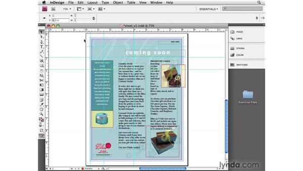 Using ruler guides: InDesign CS4 Essential Training