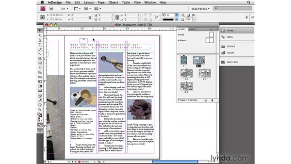 Overriding master page items: InDesign CS4 Essential Training