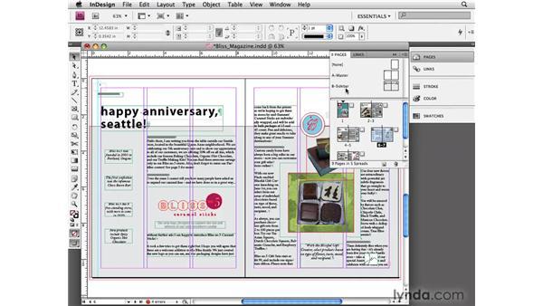Using parent/child master pages: InDesign CS4 Essential Training