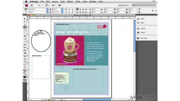 Understanding text frames: InDesign CS4 Essential Training