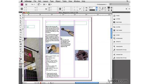 Importing text: InDesign CS4 Essential Training