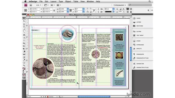 Threading text frames: InDesign CS4 Essential Training