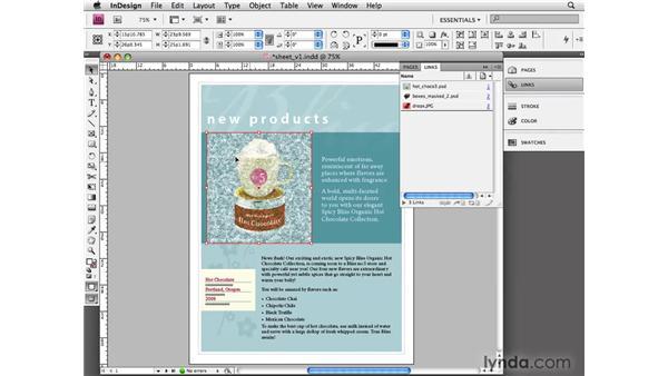 Editing original graphics: InDesign CS4 Essential Training