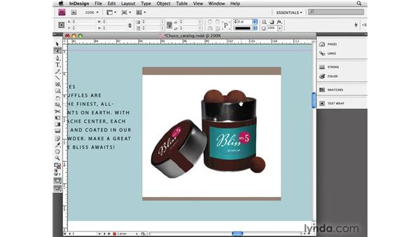Setting transparency and clipping paths: InDesign CS4 Essential Training