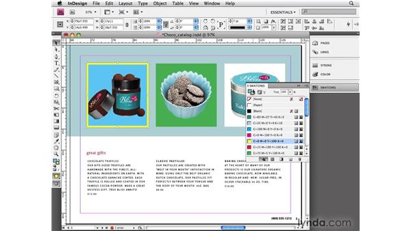 Using basic strokes and fills: InDesign CS4 Essential Training