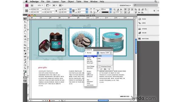 Using transparency: InDesign CS4 Essential Training