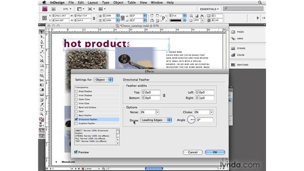 Applying feathering: InDesign CS4 Essential Training