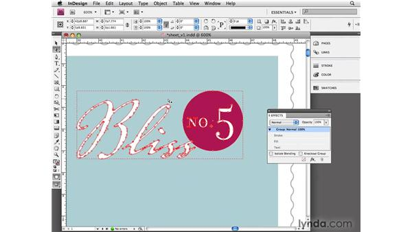 Using other effects to format objects: InDesign CS4 Essential Training