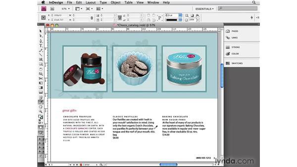 Using the Eyedropper tool: InDesign CS4 Essential Training