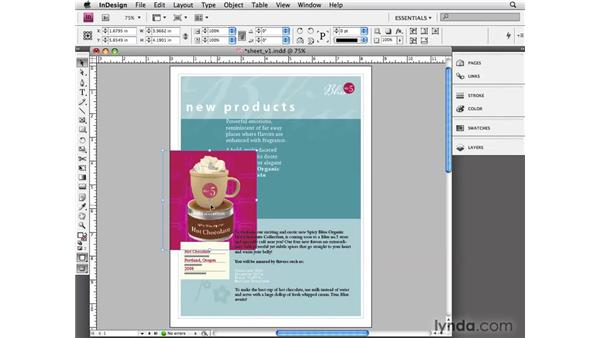 Stacking objects: InDesign CS4 Essential Training