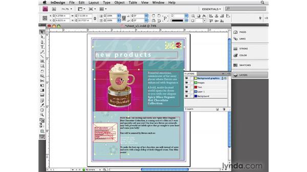 Using layers: InDesign CS4 Essential Training