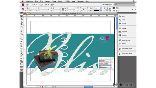 Nesting objects: InDesign CS4 Essential Training