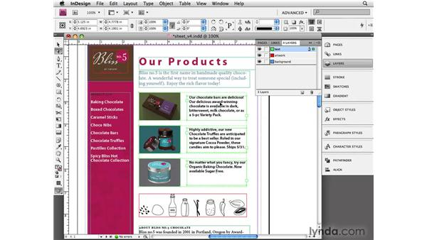 Grouping and locking objects: InDesign CS4 Essential Training