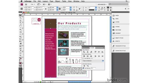 Aligning and distributing: InDesign CS4 Essential Training