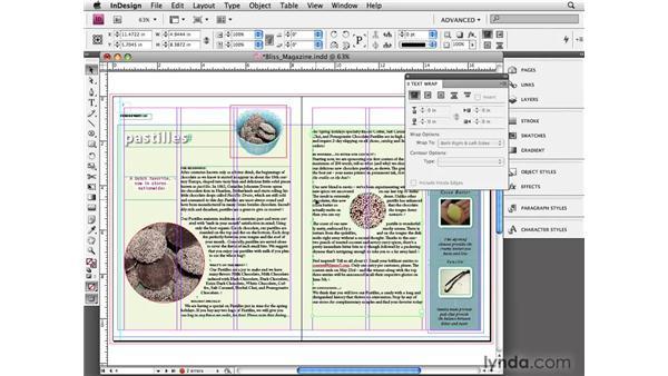 Understanding text wrap: InDesign CS4 Essential Training
