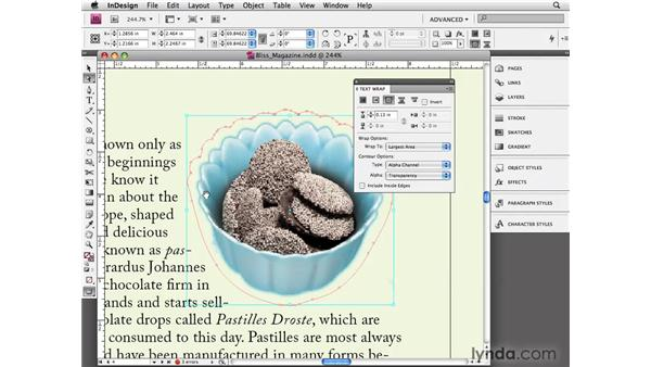 Editing text wrap: InDesign CS4 Essential Training